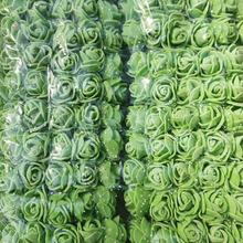 144PCS/SET Artificial Foam Rose Head Flowers Lace Wedding Bridal Party Bouquet Table DIY Craft Wreath Garland Home Wedding(China)