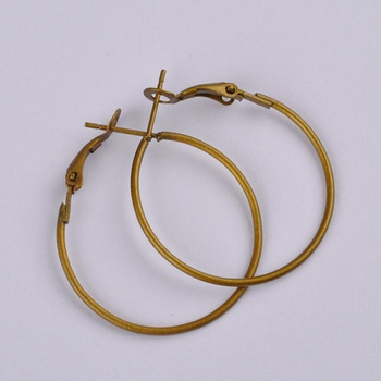 500pcs antique bronze 30mm hoop earring findings round circle ring earrings jewelry findings accessories