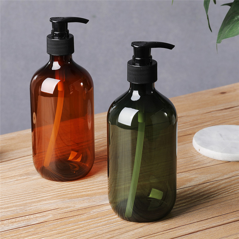 500ML Shampoo Pump Bottle Makeup Bathroom Liquid Shampoo Bottle Travel Dispenser Bottle Container For Soap Shower Gel