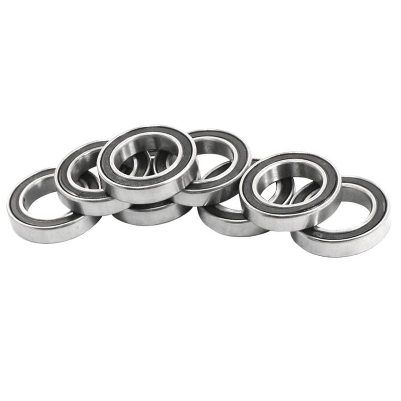 New 10Pcs  6802-2RS 15x24x5mm Metal Shielded Sealed Deep Groove Ball Bearings