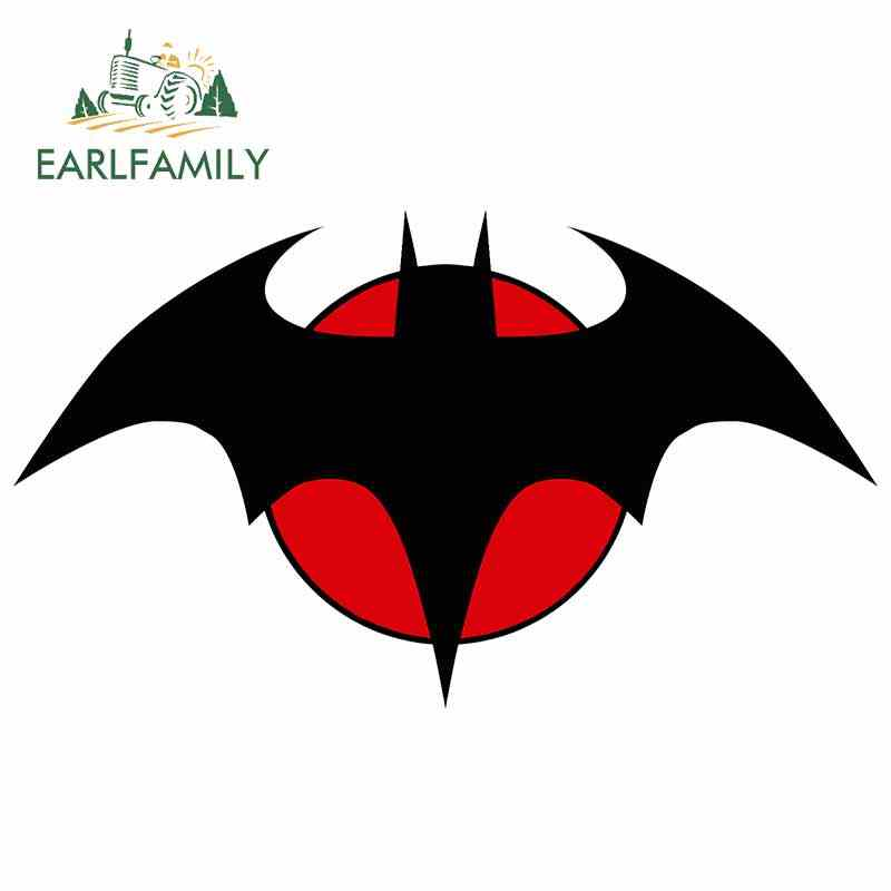 EARLFAMILY 13ซม.Batmanโลโก้Super Heroสติกเกอร์รถตลกรถด้านหลังกระจกกันชนแล็ปท็อปกันน้ำไวนิลDecalตกแต่ง