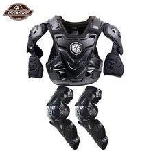 SCOYCO giacca da moto Body Armor Motocross petto protezione schiena Motocross Off Road Racing Vest + protezione per ginocchio moto