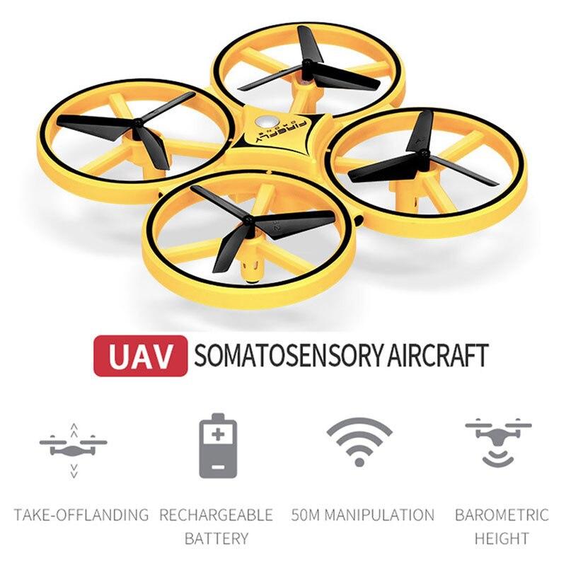 Nuevo Mini Quadcopter de inducción Drone reloj inteligente de detección remota gesto avión UFO Somatosensory Noctilucent interacción Batería de 3,7 V 800mAh y cargador USB para SYMA X5 X5C X5S X5SW X5HW X5HC x5ucs X5UW RC Drone Quadcopter repuestos betery partes 3,7 v #3
