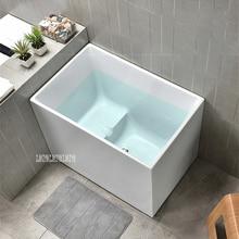 JJ-3062, 1,2 м, для взрослых, акриловая, бытовая, прямоугольная, углубляющая, отдельно стоящая Ванна, современная, для квартиры, ванной комнаты, ванна без крана