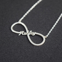2019 personality unlimited symbol ladies necklace gold stainless steel name friendship jewelry birthday gift