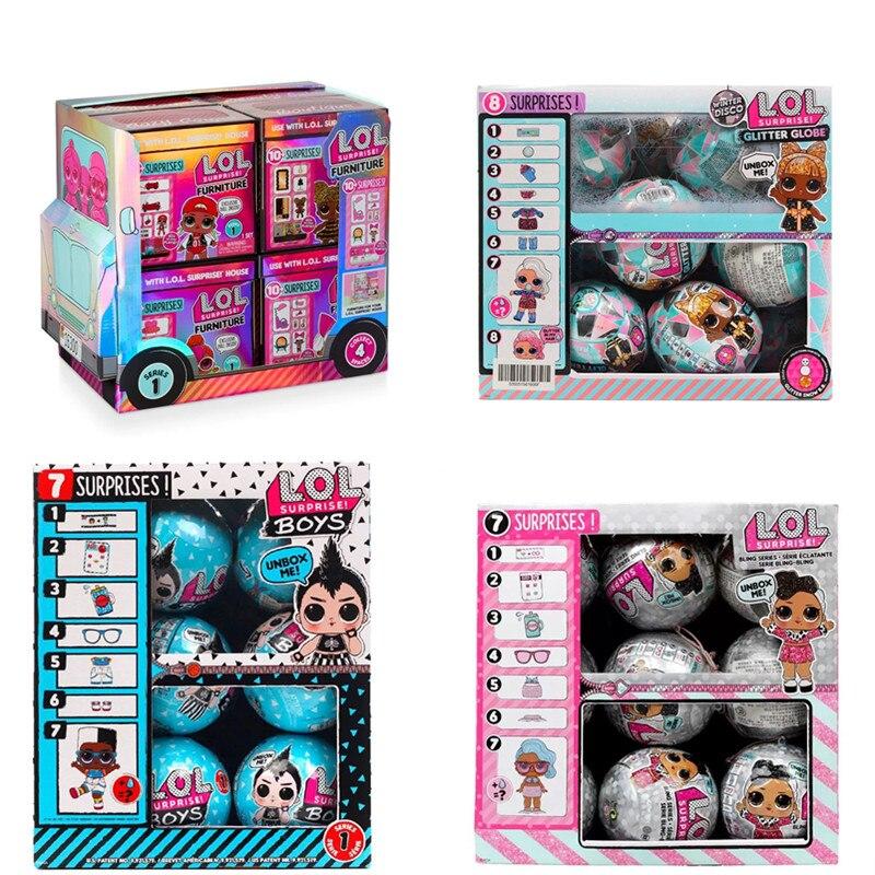 Genuine LOL Surprise Doll lol pets dolls  Demolition Ball Fashion Furniture Scene Set Blind Box Girl Toy Birthday Gift