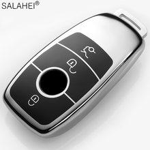 Renkli yumuşak TPU araba anahtar kapağı kılıfı kabuk çanta korumak için Mercedes Benz 2017 E sınıfı W213 2018 S sınıfı otomatik anahtar tutucu aksesuarları