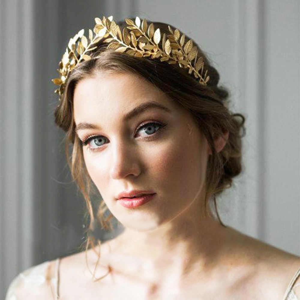 2019 新しい花嫁クラウン合金葉形状花嫁介添人ティアラウェディングヘッドバンドヘアコームヘアクリップヘアアクセサリー