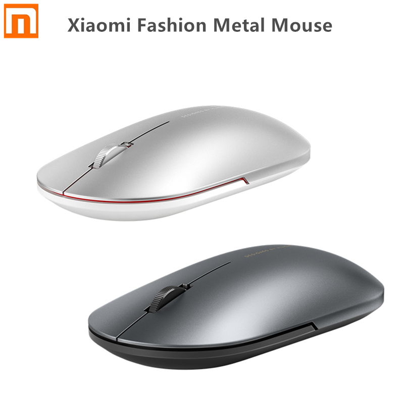 Xiaomi Fashion Metal Mouse Portable Wireless Game Mouse 1000dpi 2.4GHz Bluetooth Link Optical Mouse Mini Mouse For PC Computer