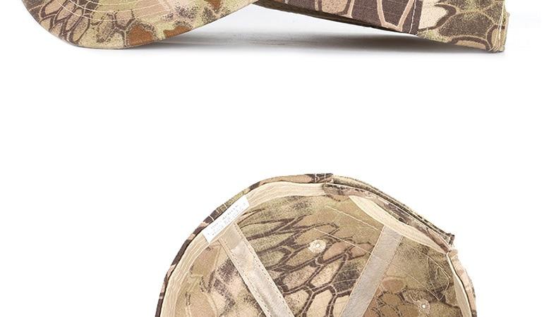 17 Colors Camo Men's gorras Baseball Cap Male Bone Masculino Dad Hat Trucker New Tactical Men's Cap Camouflage Snapback Hat 2020 20