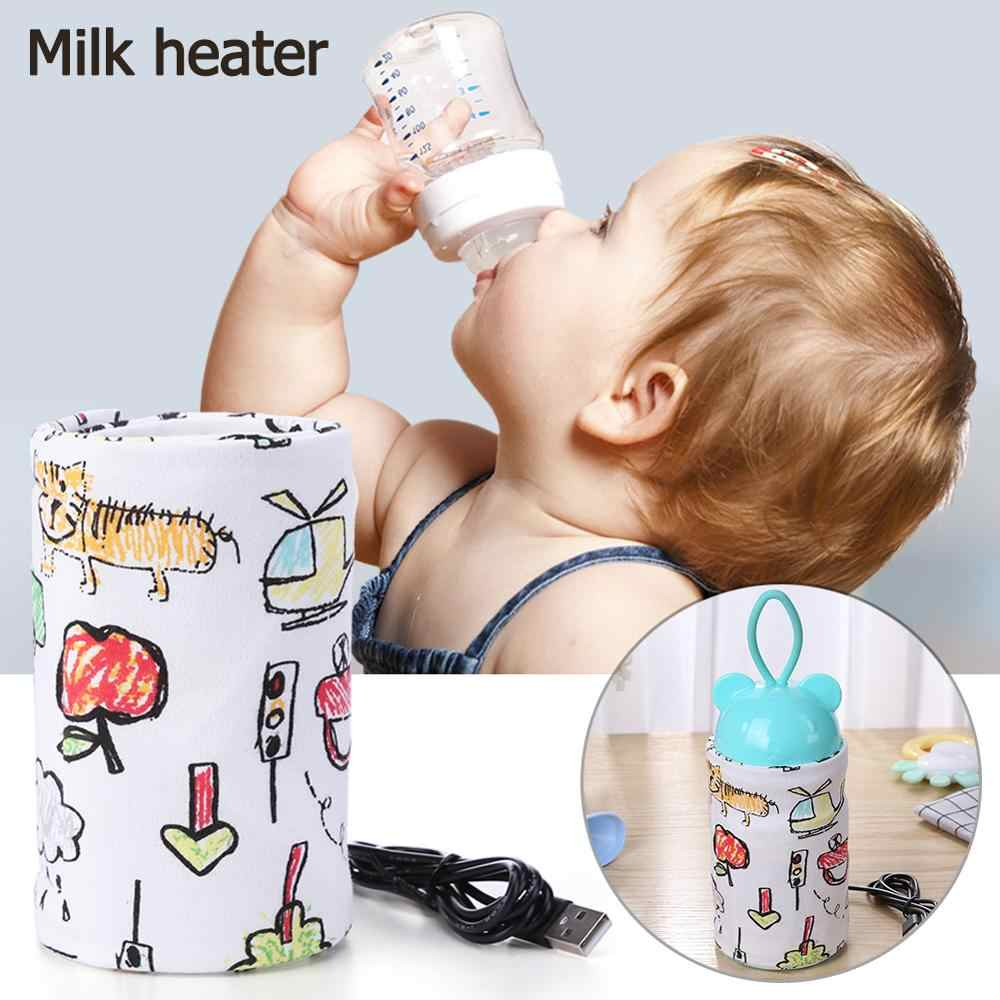 Calentador de biberones portátil con USB, calentador de tazas de viaje para leche, bolsa de almacenamiento para botella de alimentación infantil, bolsas con termostato de aislamiento