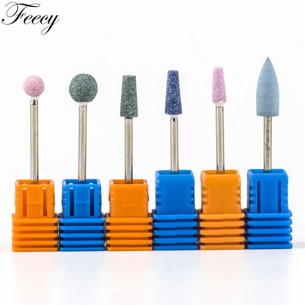 Nail Drill Bit Mills For Nail Art Ceramic Stone Cutter For Manicure Machine Nail Drill Accessories Pedicure Nail Tools Feecy 4T