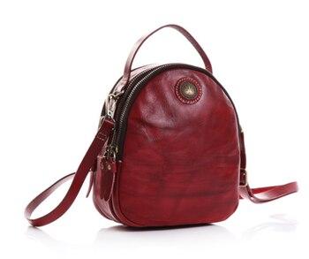 elegant Vintage Women Backpack Genuine Leather Shoulder Crossbody Bag Exquisite Mini Outgoing Bags Christmas Gift Mochila DF153