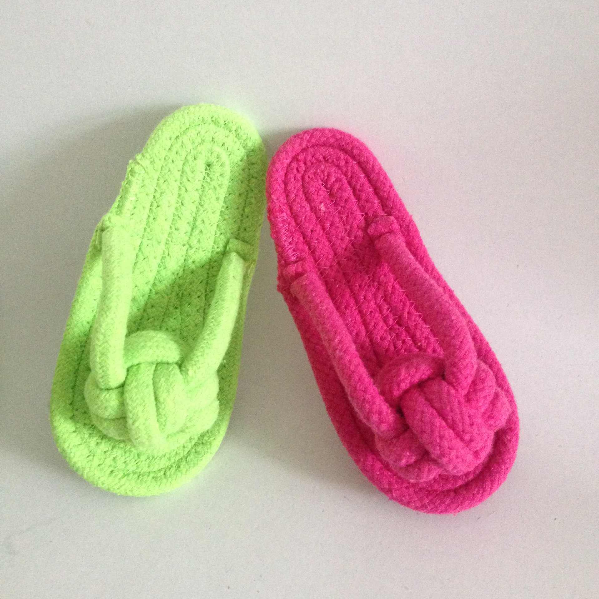 Candy colored cotton rope clip foot slipper pet toy dog molar toy dog bite knot dog toy  dog chew toys  popular toys