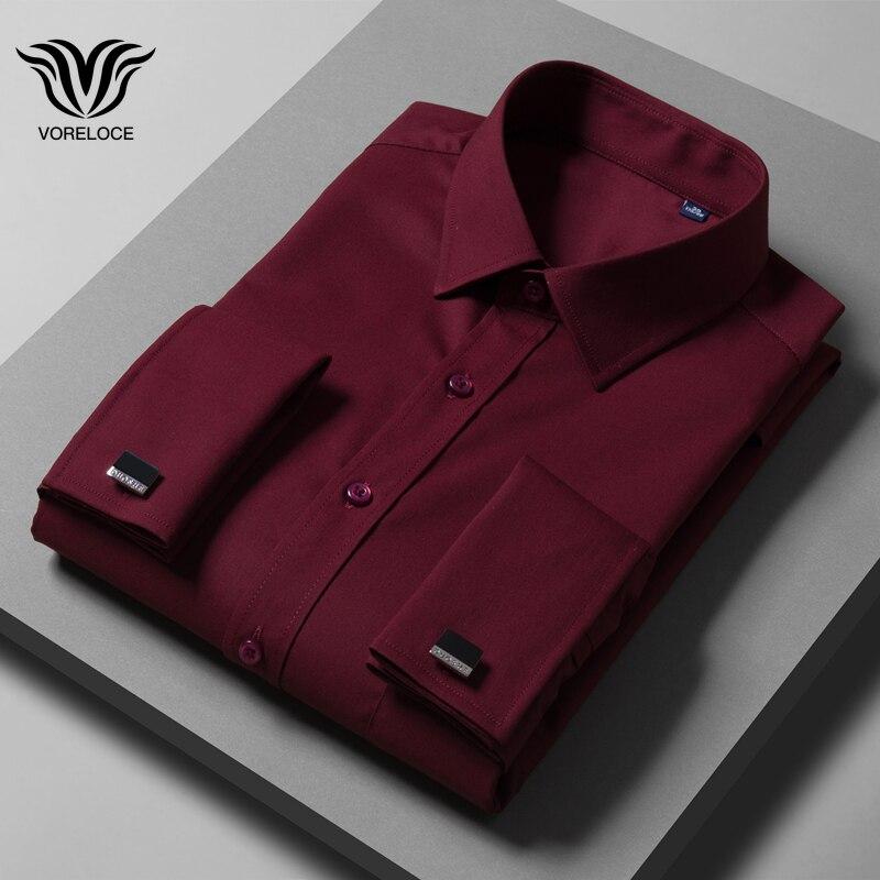 Shirt 8XL Clothing Bamboo-Fiber 10XL Casual Men's Long-Sleeved High-Quality 5XL 9XL 6XL