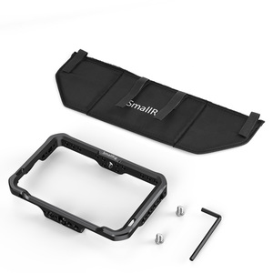 """Image 2 - SmallRig Monitör Kafesi Güneşlik için SmallHD ODAK OLED Serisi 5.5 """"Monitör Koruyucu Kafes + Güneş Kalkanı Hood Kiti  2405"""