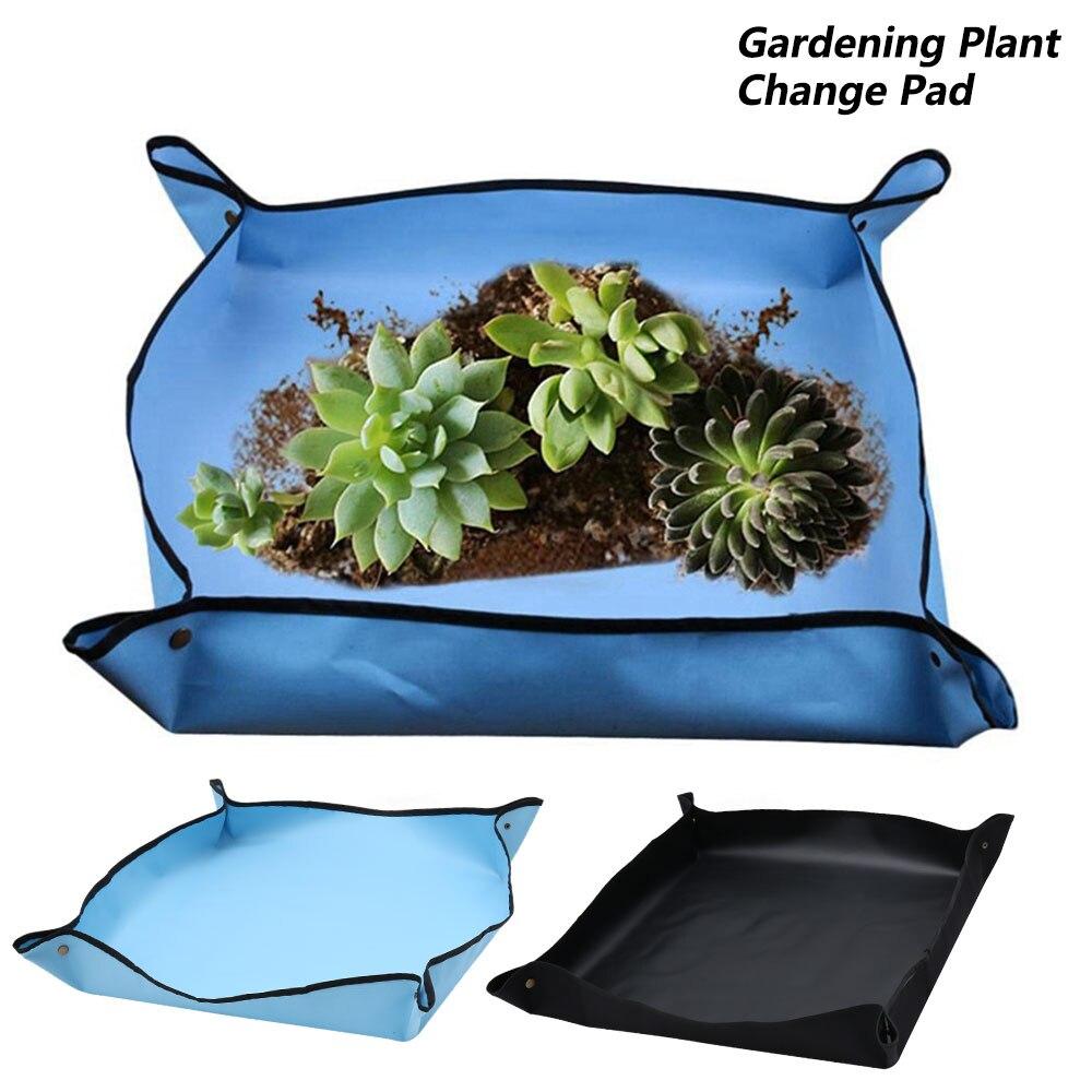Cambio de planta almohadilla gruesa reutilizable impermeable cuenca tierra Cojín cuadrado jardinería mezcla suelo diseño de bloqueo Mat maceta 100x100CM