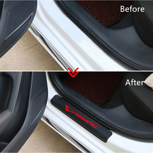 Image 4 - 4PCS Auto Door Threshold Plate Guards Sticker For Daihatsu D base D R PICO Car Door Sill Carbon Protector Accessories