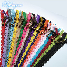 Nylon Coil-Flower-Zipper Sewing 10inch Tailor 20-Colors DIY 25cm for Handicraft Bed-Bag