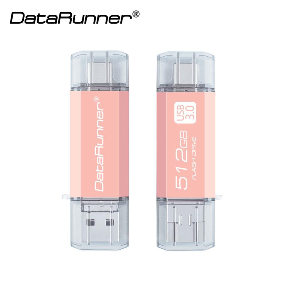 DataRunner OTG Usb Flash Drive TYPE C Pen Drive 512GB 256GB 128GB 64GB 32GB USB Memory Stick 3 In 1 High Speed Pendrive