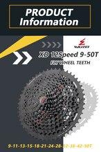 WUZEI 12 S 9-50T MTB dağ bisiklet Freewheel 537g XD Ultralight kaset 12 hız siyah gri volan SRAM XD k7 bisiklet parçası