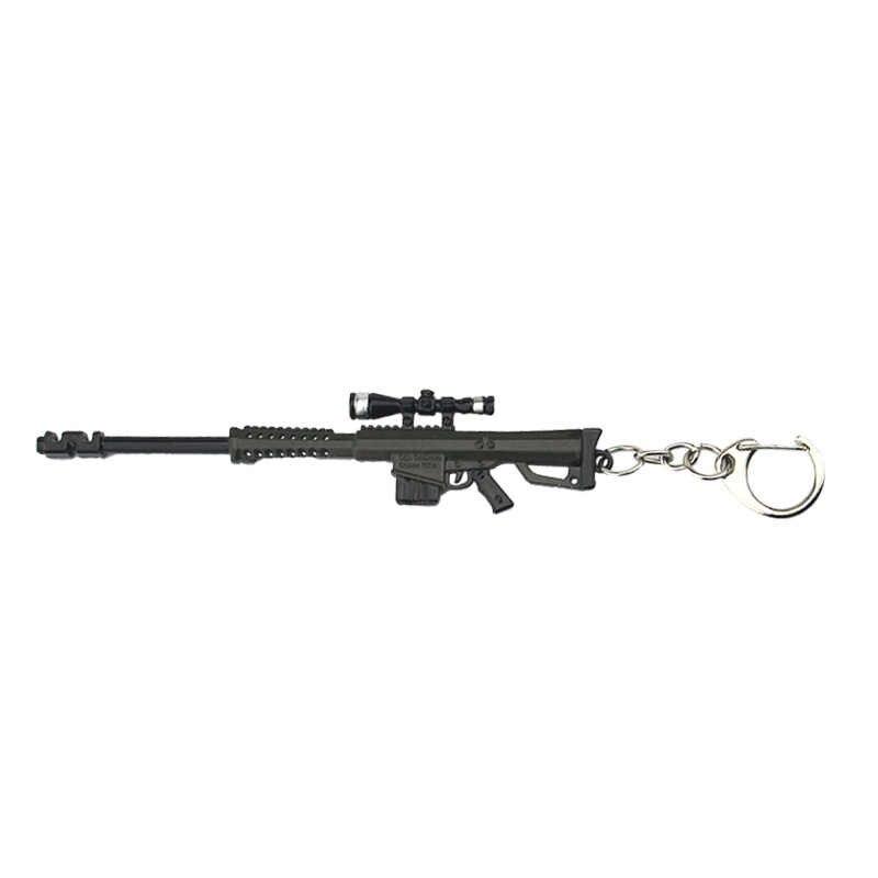 משחק keychain PUBG CSGO CF משחתת צלף רובה תליון M82A1 keyring גברים רכב מפתח מחזיק ילד תרמיל אביזרי chaveiro
