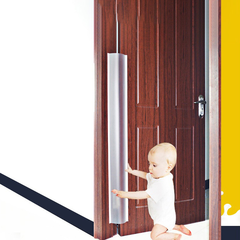 Home Baby Safe Door Stripe Prevent Finger Injure Translucent Double-Sided Paste Kids Safety Protection Stripe For Gate