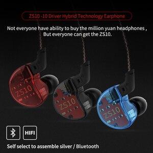 Image 5 - KZ ZS10 4BA+1DD Hybrid In Ear Earphone HiFi  Earphone Earplug Headset Earbud Noise Cancelling DJ Professional Earphone AS10 ZST