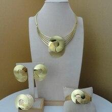Yuminglai New Arrival 24K Superior Elegant Design Jewelry Set for Women FHK8995