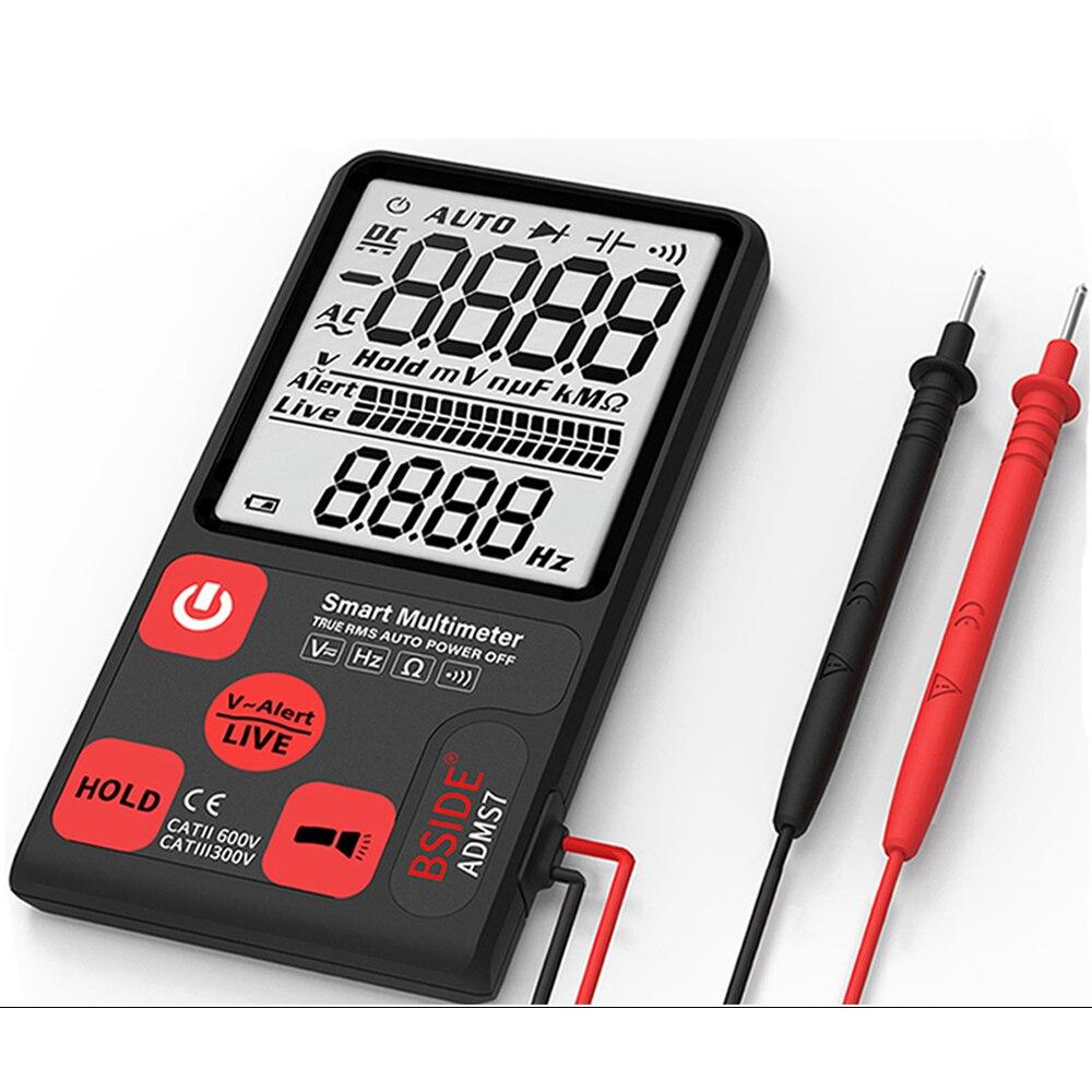 "Ultra Portable Digital Multimeter BSIDE ADMS7 S9CL Large 3.5"" LCD 3 Line Display Voltmeter DMM AC DC Voltage NCV Ohm Hz Tester|Multimeters| |  - title="