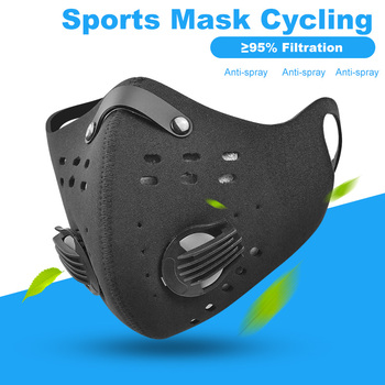 Face Mask With Filter Carbon PM 2.5 Anti Pollution Dustproof Protective Mask Sport Running Cycling Facemask