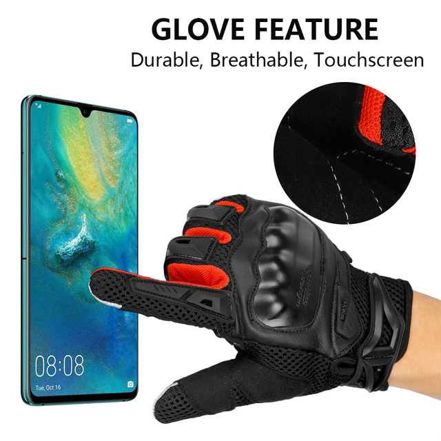 IRON JIA'S Summer Motorcycle Gloves Men Touch Screen Breathable Motobike Riding Moto Protective Gear Motorbike Motocross Gloves 2