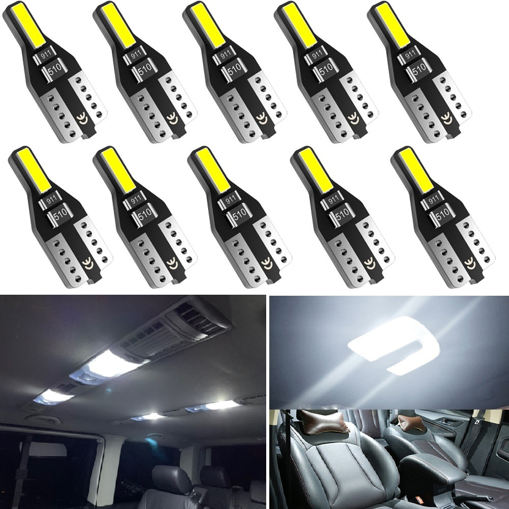 10PCS T10 W5W LED Car Interior Light 12V 168 194 Reading Lights For <font><b>Audi</b></font> A3 <font><b>A4</b></font> B6 B8 A6 C6 80 B5 B7 A5 Q5 Q7 TT 8P 100 8L C7 8V image