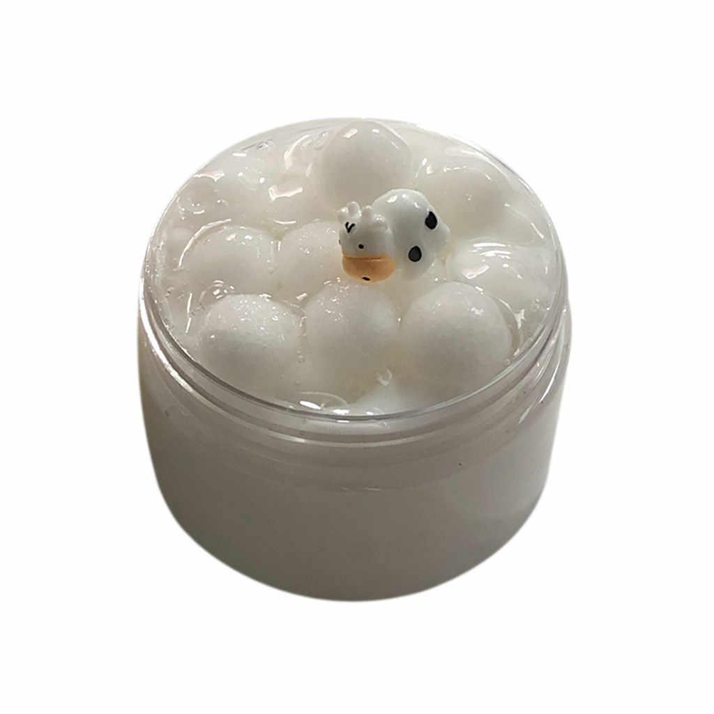 นมวัวเป็ดพัฟ Cloud Slime Putty Scented ความเครียดสำหรับเด็ก Clay ของเล่น 100ml ของเล่นอุปกรณ์ Plasticine GUM Polymer antistress ใหม่