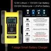 FOXSUR 12V 24V Car Battery Charger 6A 12 6V Lithium Battery Charger  amp  Maintainer 7-Stage Car  amp  Motorcycle Battery Charger review