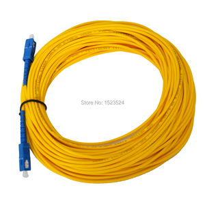 Image 2 - Free Shipping SM SX 3mm 20M 9/125um Fiber Optic Jumper Cable SC/UPC SC/UPC Fiber Optic Patch Cord