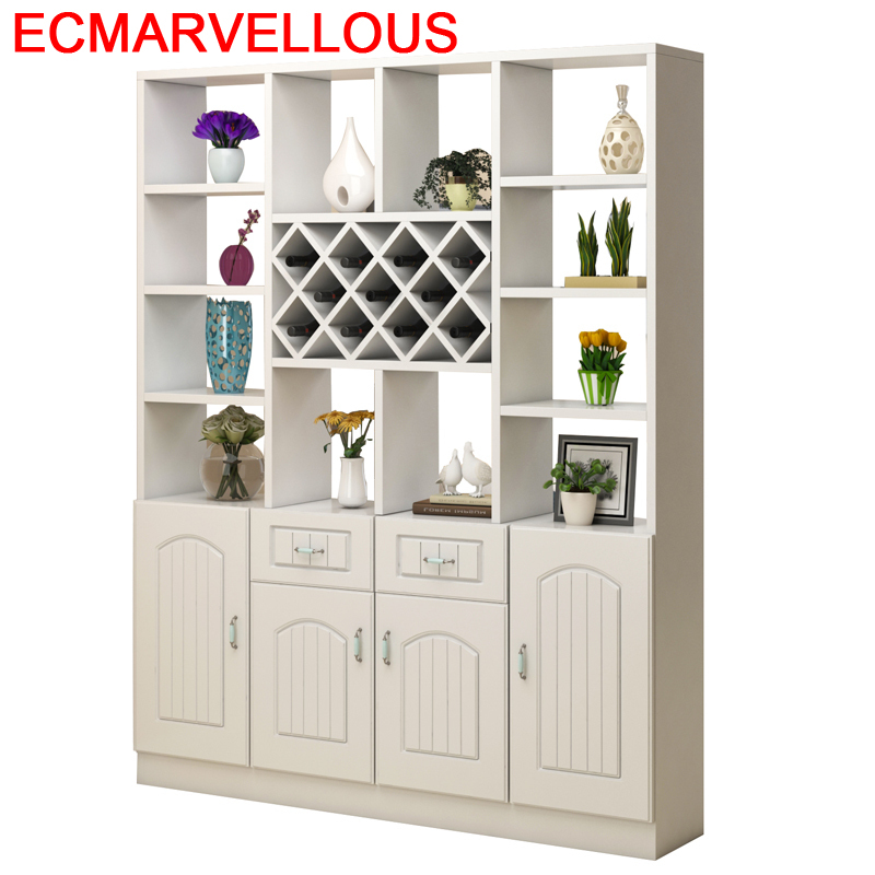 Kitchen Storage Mobilya Adega Vinho Vetrinetta Da Esposizione Salon Armoire Commercial Furniture Shelf Mueble Bar Wine Cabinet