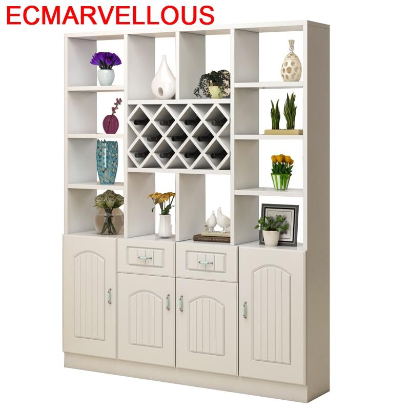 Kitchen Storage Mobilya Adega Vinho Vetrinetta Da Esposizione Salon Armoire Commercial Furniture Shelf Mueble Bar Wine Cabinet