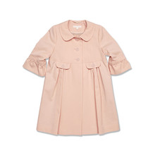 New Autumn Spring Children Clothing Girls Fashion 3-4yrs Flesh Turn-down Collar Half-sleeved