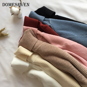 Women Knitted Ribbed Pullover Sweater Long Sleeve Turtleneck Slim Jumper 2020 Autumn Winter Thick Sweater Soft Warm Pull Femme autumn winter basic thick sweater women knitted ribbed pullover sweater long sleeve turtleneck slim jumper soft warm pull femme