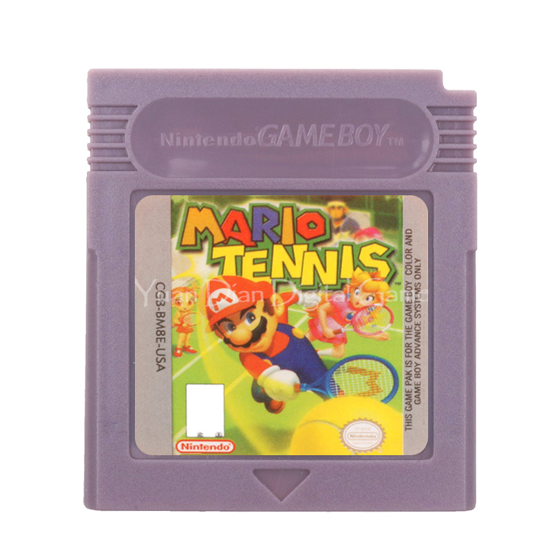 For Nintendo GBC Video Game Cartridge Console Card Mari Tennls English Language Version 1