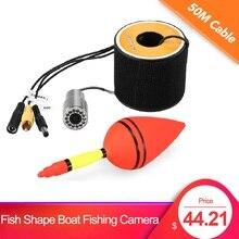 Рыболовная камера в форме рыбы, камера для подледной рыбалки, аксессуары 1200TVL, камера для подводной рыбалки, 12 светодиодный водонепроницаемый кабель ночного видения 15 30 50 м