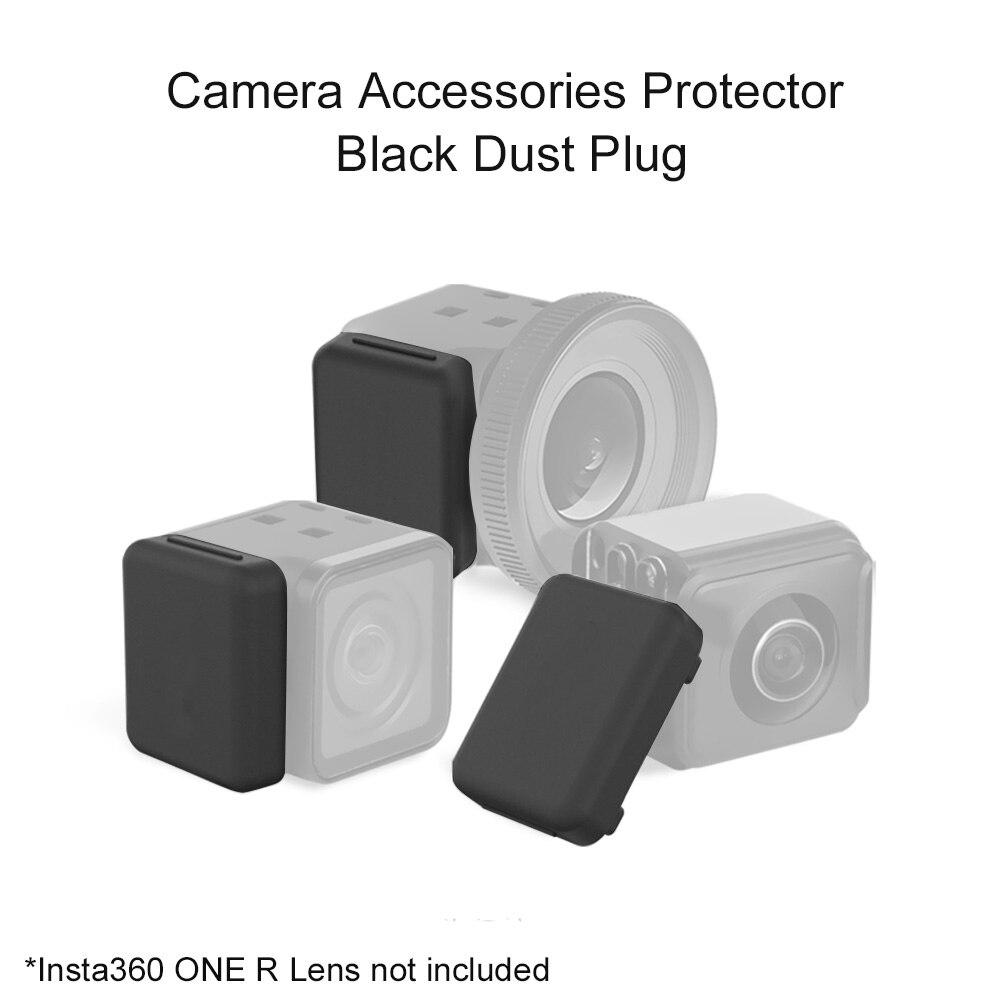 2 шт. защитные аксессуары для камеры Портативная Пылезащитная крышка практичный силиконовый чехол водонепроницаемый для объектива Insta360 ONE R