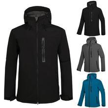 Men Fleece Softshell Hiking Jackets Autumn Winter Thermal Windbreaker Coat Outdoor Trekking Skiing Snowboard Waterproof Jackets