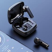 Tws bluetooth 5.1 fones de ouvido sem fio de alta fidelidade estéreo esportes à prova dled água display led fones com microfone