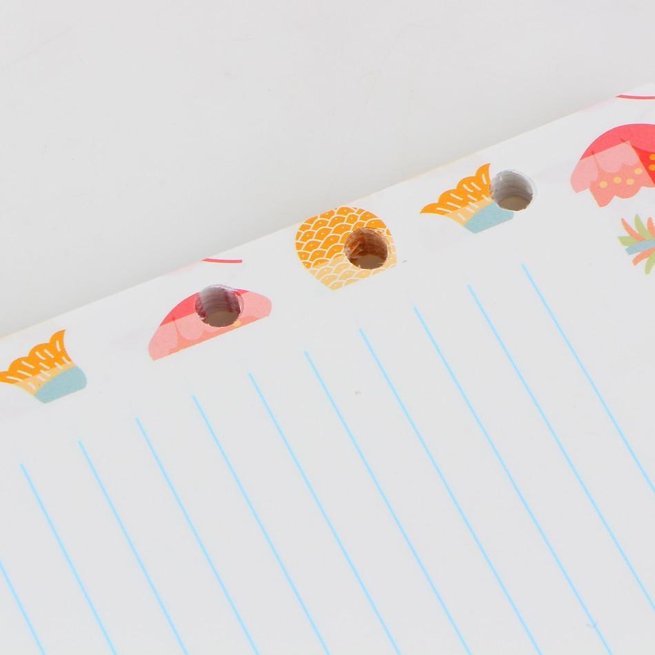 A5 A6 6Holes Heart Hand Account Page Notebook Notebook Agenda Caderno Escolar Office School Supplies in Notebooks from Office School Supplies