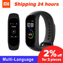 Original Xiaomi Mi Band 4 Original Newest Xiaomi Miband 4 Bracelet 3 colour Heart Rate Fitness 135mAh Color Screen Bluetooth 5.0(China)