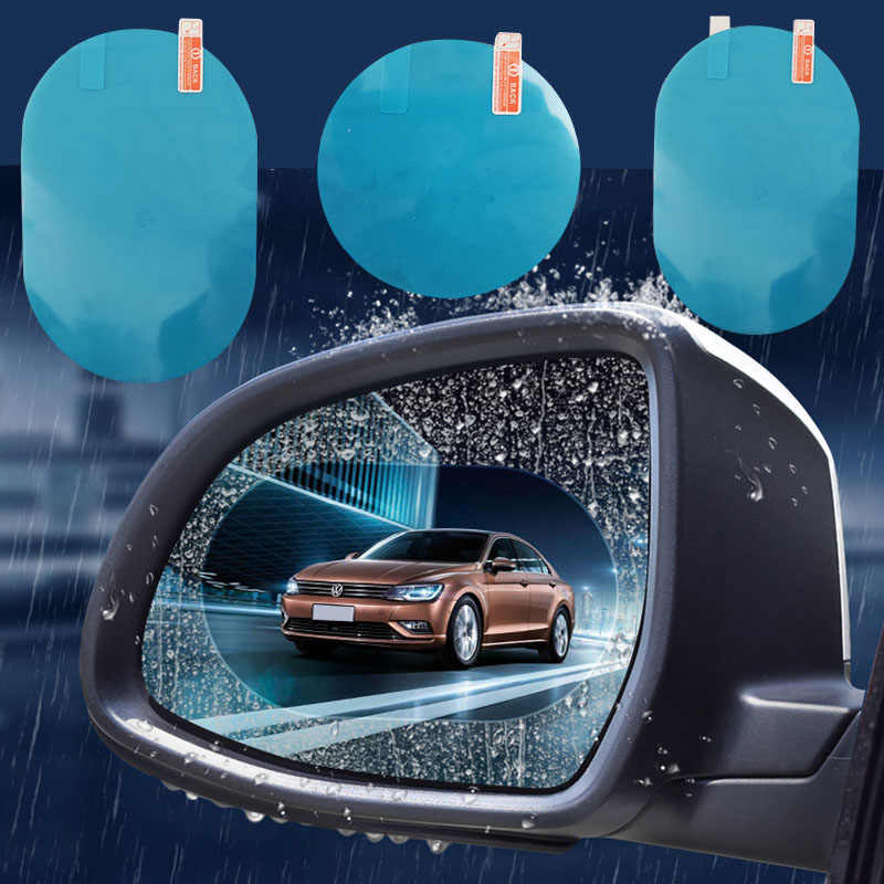 4 pcs รถกระจกมองหลังป้องกันฟิล์ม Anti หมอกหน้าต่าง CLEAR กันฝนด้านหลังดูกระจกฟิล์มอุปกรณ์เสริมอัตโนมัติ