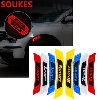 2Pcs Car Fender Wheel Eyebrow Safety Sticker For Suzuki Swift Bmw F10 X5 E70 E30 F20 E34 G30 E92 E91 M Volvo XC90 S60 V40 S80 image
