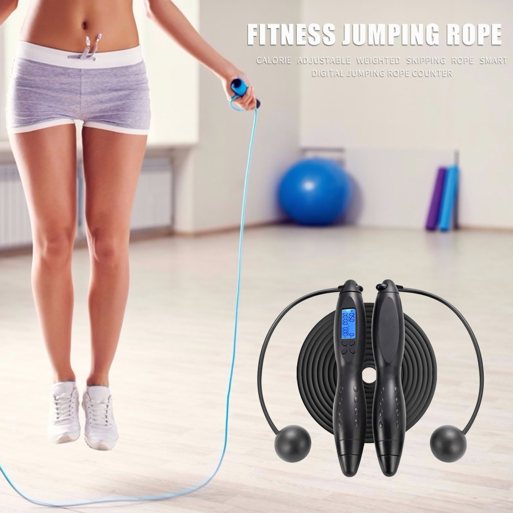 Farelot Calorie Counting Cordless Jump Rope with Counter Digital Display and Weighted Handles Track Lap Jumping and everyday Fitness Exercise Skipping Rope with Ropeless Mode and Adjustable Speed Ropes